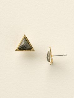 Petite Semi-Precious Triangle Post Earrings - Lisa Oswald Collection in Black and White by Sorrelli - $20.00 (http://www.sorrelli.com/products/EDD3BGBCL)