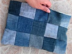 The Awesome Denim Clutch   AllFreeSewing.com