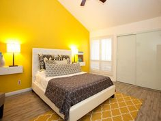 yellow-contemporary-bedroom