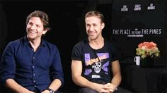 bradley cooper and ryan gosling laughing. IN GIF FORM!