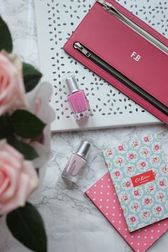 Frey de Fleur | Luxury Lifestyle Blogger | Beauty Flatlay | Leighton Denny Nails | Cath Kidston Desk