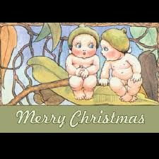 Gumnut Babies by May Gibbs. - a pinner said 'I grew up with gum trees in Kenya so I know about playing with the gumnuts. I even called them pixie hats. I am thrilled to discover these little people. Aussie Christmas, Australian Christmas, Christmas Baby, Christmas And New Year, Christmas Cards, Xmas, Fairy Pictures, Typography Prints, Cute Illustration