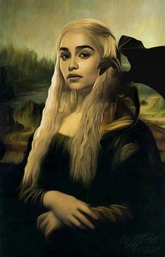 Game of Thrones Khaleesi, Mona Lisa fan art Art Game Of Thrones, Dessin Game Of Thrones, Mona Lisa, Game Of Trones, Little Tykes, Winter Is Here, Mother Of Dragons, Khaleesi, Daenerys Targaryen Art
