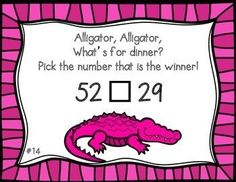 Help your students learn how to compare two two-digit numbers with these colorful cards! Each card contains a comparing equation so students can practice identifying if one number is greater than, less than, or equal to another number. These cards come in two sets: full color and black and white (these can be printed on color card stock so you can save your ink). Grades 1-3 ~ The Vivacious Teacher