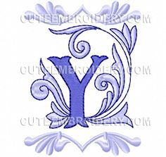 This free embroidery design from Cute Embroidery is the Letter Y