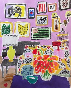 #decoratecolorfully painting of interior by bella foster