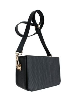 GOSHICO, BOXY (evening bag with belt), black. To download high or low resolution product images view Mondrianista.com (editorial use only).