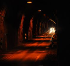 Single lane tunnel on Iceland - waiting for a meeting car by ystenes, via Flickr