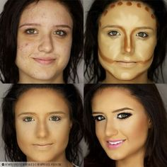 Before and after Make up Contour