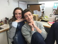 Grant Gustin and Danielle Panabaker look so cute together