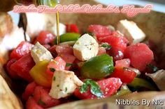 Heirloom Tomato Salad with Watermelon & Mozzarella