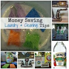 Money Saving Laundry and Cleaning Tips by marissa