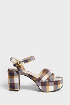3a190726bf99 Product Name Plaid Ankle Strap Platform Heels