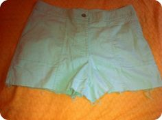 Upcycled Shorts Green Linen Spring Shorts by OCVintageArtCouture, $25.99