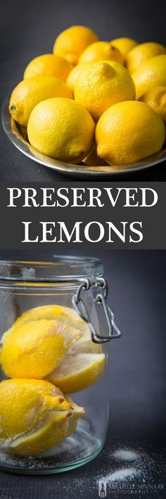 Preserved Lemons - Unlock the secret of Moroccan and Middle Eastern cuisine with this preserved lemons recipe and discover how to transform your cooking into indescribably exquisite meals! Lemon Recipes, Fruit Recipes, Dessert Recipes, Dinner Recipes, Cooking Tips, Cooking Recipes, Cooking Videos, Cooking Ingredients, Gourmet