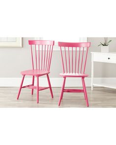raspberry dining chairs!