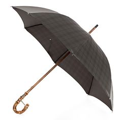 Pasotti men's italian handmade umbrella with bambou handle and grey check canopy ( art.4007 ), $249