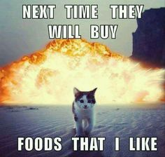 Next time they will buy foods that I like!