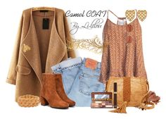"""""""Camel COAT"""" by li-lilou ❤ liked on Polyvore featuring Bobbi Brown Cosmetics, Levi's, Sans Souci, Steve Madden, Too Faced Cosmetics, Oliver Peoples, Kenneth Jay Lane, Gucci, Chaumet and Tom Ford"""