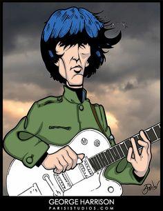 "George Harrison from the Beatles movie, ""HELP"". Les Beatles, Beatles Art, Beatles Photos, Rock N Roll Music, Rock And Roll, John Lennon Paul Mccartney, Boy Music, The Fab Four, Ringo Starr"