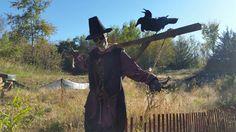 Anoka Halloween capital of the world scarecrow pumpkinrot two-headed crow