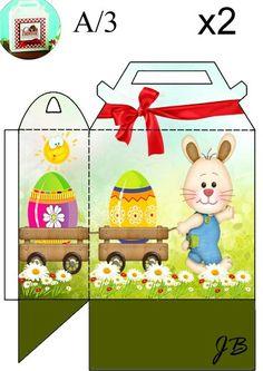 Caja infantil para Pascua.