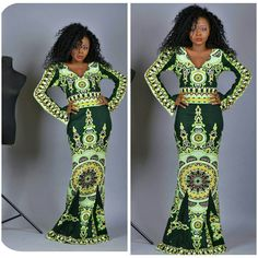 African Print Dashiki dress, green dashiki maxi dress, 100% cotton wax, African Wax fabric, african clothing door FashAfrique op Etsy https://www.etsy.com/nl/listing/258249851/african-print-dashiki-dress-green