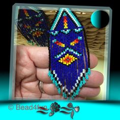 Long Beaded Earrings Rays of Hope by Bead4Fun on Etsy