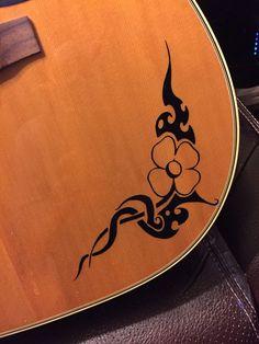 Guitar Pick Guard Decal Butterfly Vinyl Decal Sticker