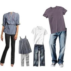 Picture outfits, but with black or coral pants for mom and more color for kids. Family Picture Colors, My Family Photo, Family Picture Outfits, Family Photo Sessions, Couple Outfits, Picture Poses, Picture Ideas, Photo Ideas, We Wear