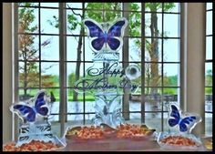 Mother's Day Butterfly Ice Carving