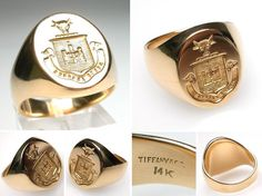 Family Crest Traditions Can Be Carried on Via Signet Rings!