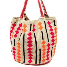 Wayuu Mochila bag Hand-knitted on Crochet Band Handle type Approximate sizes: &nbsp… Crochet Clutch, Crochet Purses, Tapestry Bag, Tapestry Crochet, Crochet Crafts, Crochet Projects, Mochila Crochet, Cross Stitch Art, Purse Patterns