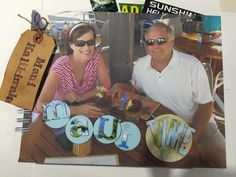 Our trip to Maui - done in chipboard and things I picked up along the way.