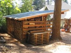 Firewood Shed, Firewood Storage, Barn Storage, Storage Ideas, Log Store, Bothy, Got Wood, Wood Projects, Woodworking Projects