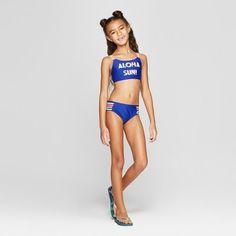 Girls' 'Aloha Sun!' Bikini Set - Cat & Jack Blue XL