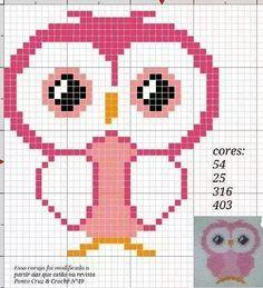 owls-hiboux-cross stitch-point de croix-embroidery