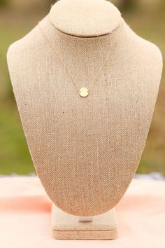 Rescue: Dainty, Thin Gold Plate Necklace
