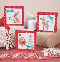 Free woodland Christmas cross stitch. These are too cute!