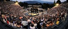 Venues*Ancient Theatre of Epidaurus. The official website of the Athens and Epidaurus Festival. Transformers, Classical Music Concerts, Site Archéologique, Greece Vacation, Acropolis, Art And Technology, Event Calendar, Music Lovers, Night Life
