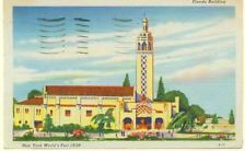 Postcard 1940 - NY World's Fair 1939 - Florida Building
