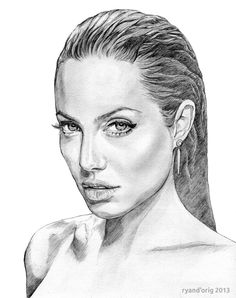 Angelina Jolie sketch