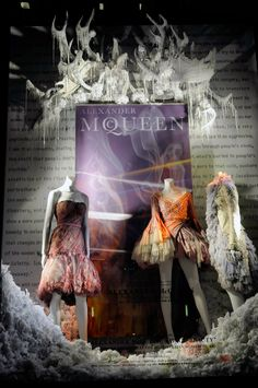 "Bergdorf Goodman, NY, ""May the world of fashion forever by inspired by Alexander McQueen"", pinned by Ton van der Veer"