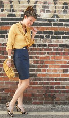 Mustard, Navy and Leopard