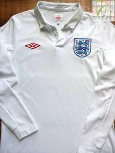 c2633851157 Relive England's 2009/2010 international season with this vintage Umbro  home long sleeve football shirt