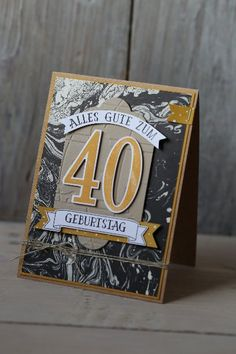 Männerkarte 40. Geburtstag, Bild1, gebastelt mit Produkten von Stampin' Up!