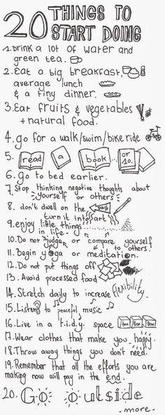 20 Dinge die dir gut tun. Starte jetzt...