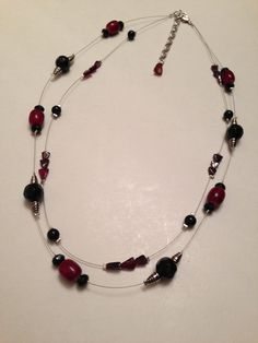 Doublestrand+illusion+necklace+in+Tuscan+red+by+BeadNinjaDesigns,+$12.00