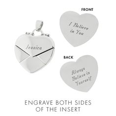 Engraved Envelope Heart Locket | Eve's Addiction®