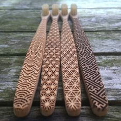 Brosse à dents bambou géométrique par ItsClearCut sur Etsy